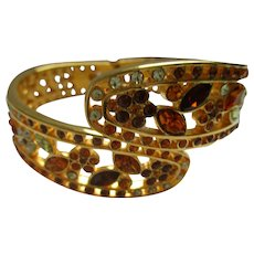 Nolan Miller's Wide Pierced Lace Bangle Bracelet