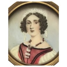 Portrait of a Young Woman on porcelain