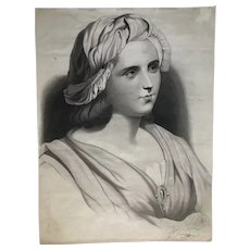 Portrait of a Young Woman 1850 framed