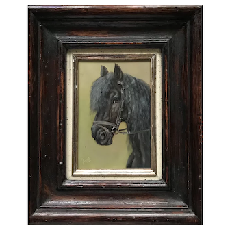 Black Horse oil painting