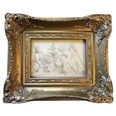 Angel with Reindeer Drawing 1861
