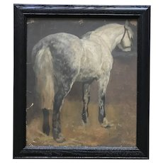 Gray Horse painting by Henry Van Ingen framed