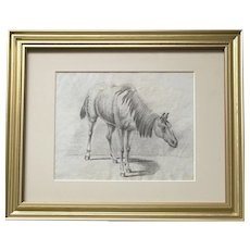 Early 19th Century Horse drawing