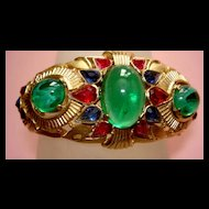 Jewels of India  Magnificent Crown Trifari  Bracelet and Earrings