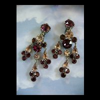 Breathtaking Chandelier Vintage Austria Amethyst Earrings