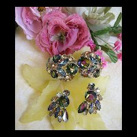 Sultry Vixen Massive Vintage Schiaparelli Mixed Stones Bracelet and earrings