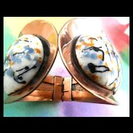 Mid Century Modernistic Matisse Galaxy Clamper Bracelet