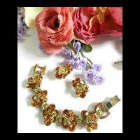 Gorgeous  D&E Juliana Vintage 5 Link Bracelet and Earrings Chunky
