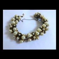 Vintage Designer Simulated Pearl Bracelet