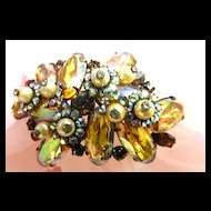 vintage High End Designer Massive Faux Pearl Brooch
