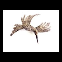 Magnificent Bird in Flight Vintage Marcasite 70's Brooch