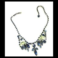 Old Old Weiss Montana Blue Ribbons Vintage necklace