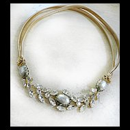 Vintage Schreiner Ny Faux South Seas Pearl Necklace