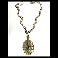 Vintage Victorian Revival Fabulous  Huge Pendant Necklace
