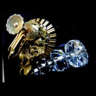 Exquisite 1930s Haskell Drippy Crystal Earrings