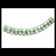 Beautiful  Givre  Kramer N.Y.Vintage Bracelet Mint Green and Blue