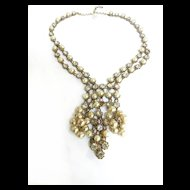 Elegant Vintage Waterfall Faux Pearl Vintage Necklace