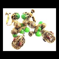 Vendome Drippy Chandelier Vintage Earrings
