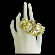 Exquisite Juliana Enormous Pear Shaped Glass Jonquil Bracelet