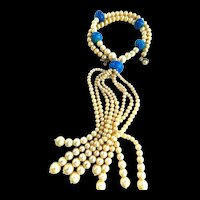 Spectacular 1930s Flapper Opera Length Faux Pearl Necklace