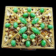 Spectacular Jeweled Vintage 40s Compact