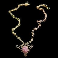 Gorgeous Sterling Silver Amethyst Necklace  1950s