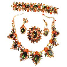 The One And Only Juliana Massive Watermelon Necklace Bracelet Earrings Brooch