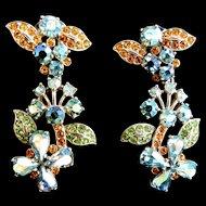 Magnificent Museum Quality Schiaparelli Earrings 40s