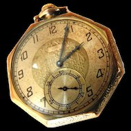 1923 Elgin Gold Filled Mens Pocket Watch