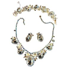 Juliana Chunky Hematite Cabochon Necklace Bracelet Earrings