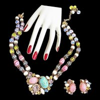 Magnificent Hobe 1950s Massive necklace and Earrings