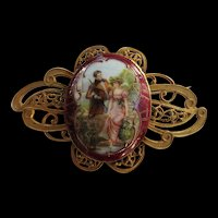 Victorian Massive Portrait Brooch Late 1800s