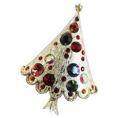Vintage Xmas Tree with Rhinestones - Red Tag Sale Item