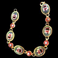 Vintage Micro Mosaic Italy Bracelet