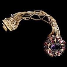 Return to Elegance Designer gorgeous Big Chunky Rhinestone  Bracelet