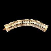 Dazzling Austrian Wide Vintage Aurora Borealis Bracelet