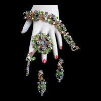 Extremely Rare Juliana Polka Dot Bracelet Brooch Earrings