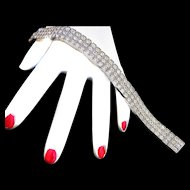 Exquisite Deco Era Sterling Silver Vintage Bracelet