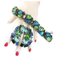 Caribbean Sunshine Vintage Designer Bracelet and Earrings