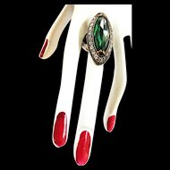 Exquisite Art Deco Style Sterling Silver Dinner Ring Vintage