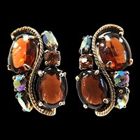 Vintage Schiaparelli Topaz Earrings