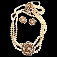 Return to Elegance Vendome Faux Pearl Parure Museum Quality
