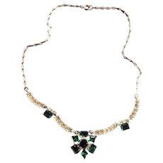 Vintage Bogoff Rhinestone Necklace 1950s