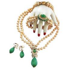 Return to Elegance Magnificent Mogul Jewels Panetta Necklace Bracelet Earrings