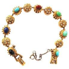 Vintage ART Signed 13 Charm Bracelet