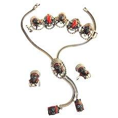 Selro Blackmoor Nubian Princess Parure Necklace Bracelet Earrings