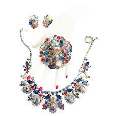 Collectors Dream Juliana Easter Egg Humongous Necklace Earrings Brooch