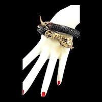 Vintage Jet Black Vintage Cobra Wrap Bracelet