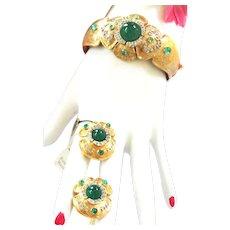Breathtaking Mazer/Jomaz Museum Quality Bracelet and Earrings Vintage