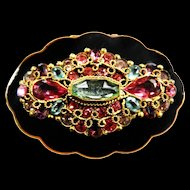 Absolutely Magnificent 1940's Jeweled Powder Compact Vintage